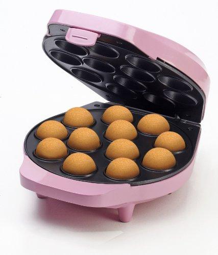 Bestron Cake-Pop Maker im Retro Design, Sweet Dreams, Antihaftbeschichtung, 700 Watt, Rosa