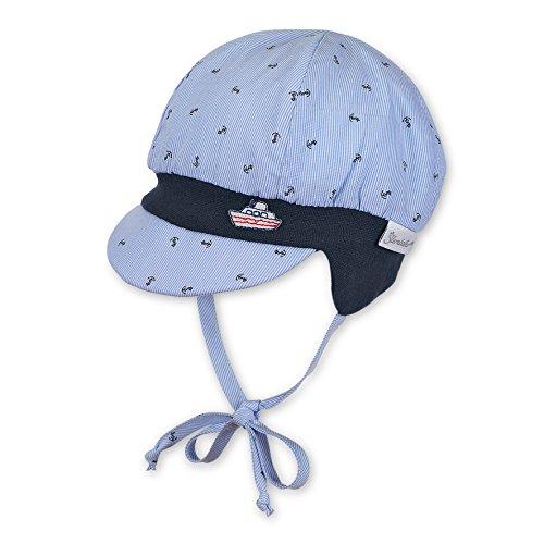 Sterntaler Ballonmütze mit Bindebändern, Alter: 4-5 Monate, Größe: 41, Hellblau (Himmel)