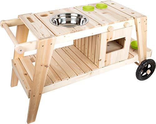 small foot 11665 Matschküche aus massivem und witterungsbeständigem Holz für Kinder ab 3, Outdoorküche mit...