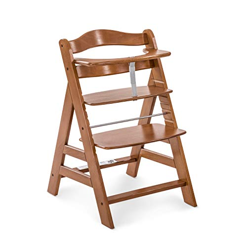 Hauck Holz Hochstuhl Alpha + für Kinder ab 6 Monaten bis 90 kg belastbar / verstellbar / mitwachsend / für...