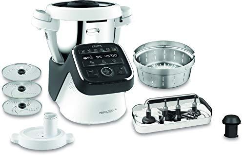 Krups Prep & Cook XL Küchenmaschine mit Kochfunktion HP50A8 | inkl. Schnitzelwerk | 1550 W | 3 L...
