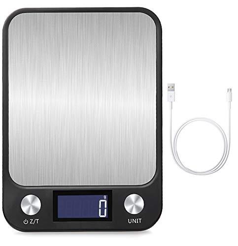 BENEFAST 1g bis 10 Kg Touch Control Digitale Küchenwaage, USB Aufladen, leuchtende LCD-Anzeige, Hochpräzise...