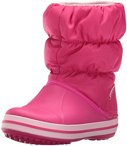 Crocs Winter Puff Boot Kids, Unisex - Kinder Schneestiefel, Pink (Candy Pink), 27/28 EU