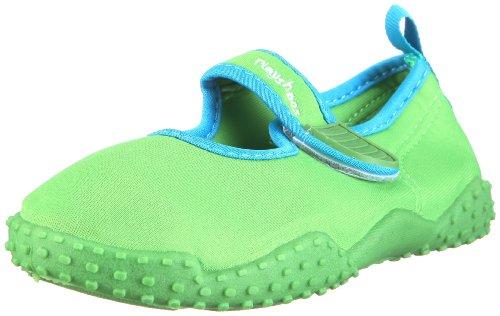 Playshoes Unisex-Kinder Aqua-Schuhe Klassisch, Grün (Grün 209), 22/23