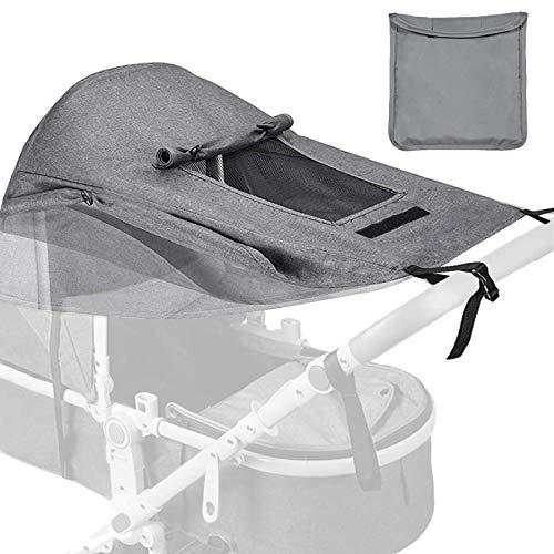 Universal Kinderwagen Sonnensegel,mit UV Schutz 50+ und Wasserdicht,Sonnensegel kinderwagen,verstellbarer...