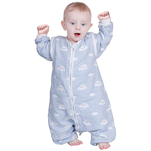Lictin Schlafsack mit Füße Schlafsack Baby mit abnehmbaren Ärmeln für Säugling Kinder 1-3 Jahre alt von...