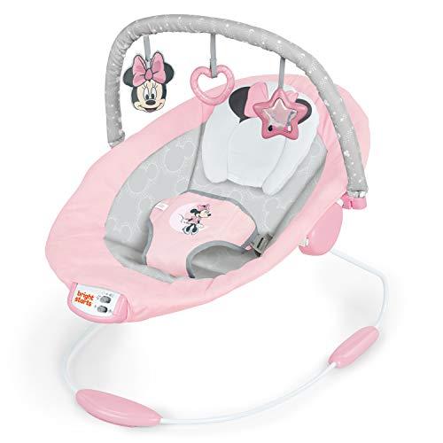 Disney Baby, Minnie Maus Rosy Skies vibrierende Wippe mit Musik, Lautstärkeregler, 3 Spielzeugen,...
