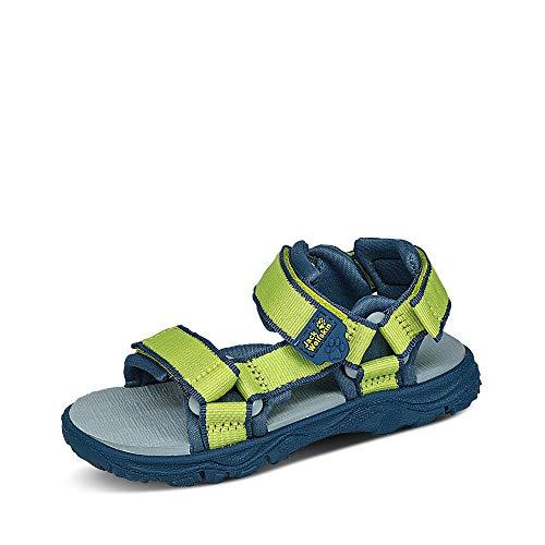 Jack Wolfskin Jungen Unisex Kinder Seven SEAS 3 K Sport Sandalen, Grün (Lime/Blue 4171), 29 EU