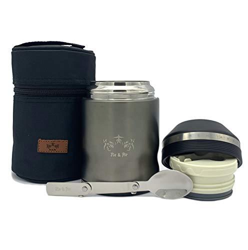 Re & Ar Thermobehälter für Essen - 500ml - Auslaufsicher, BPA-Frei - Food Container, Thermo Essensbehälter...