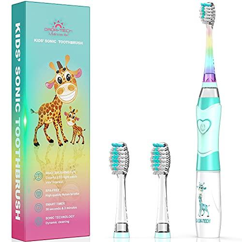 Elektrische Zahnbürste Kinder Ultraschall Batterie kinderzahnbürste mit Timer mit Schalltechnologie für...