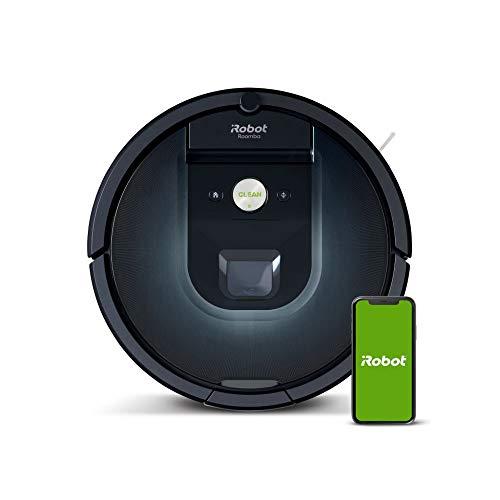 iRobot Roomba 981 Saugroboter mit 3-stufigem Reinigungssystem, Raumkartierung, Teppich-Turbomodus, zwei...