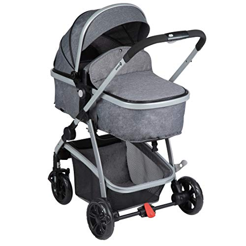 Safety 1st Kinderwagen Hello 2-in-1, zusammenfaltbarer Buggy mit wandelbarem Sitzeinhang zu Babywanne, inkl....