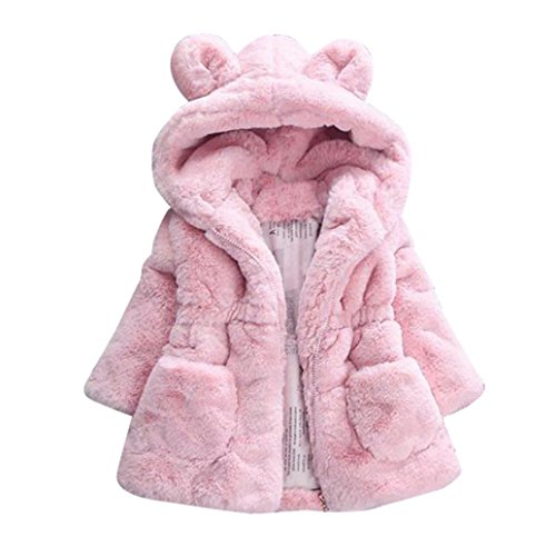 Babykleidung,Sannysis Baby Mädchen Herbst Winter Kapuzenmantel Umhangjacke Dicke warme Kleidung 1-4Jahre...