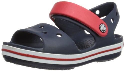 Crocs Crocband Sandal Kids, Unisex - Kinder Sandalen, Blau (Navy/Red), 23/24 EU