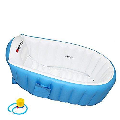 Aufblasbare Baby Badewanne Kinder Schwimmbad Jungen Air Bäder Summer Schwimmbecken Anti-Rutsch Pool faltbar...