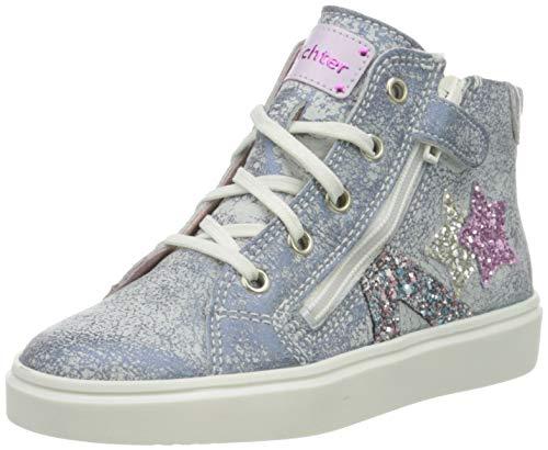 Richter Kinderschuhe Mädchen Flora Star Hohe Sneaker, Blau (Atlantic/Silver/Cand 7201), 27 EU