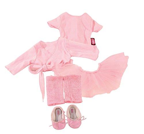 Götz 3401076 Kombination Primaballerina-Balletspaß - Puppenbekleidung Gr. XL - 7-teiliges Bekleidungs- und...