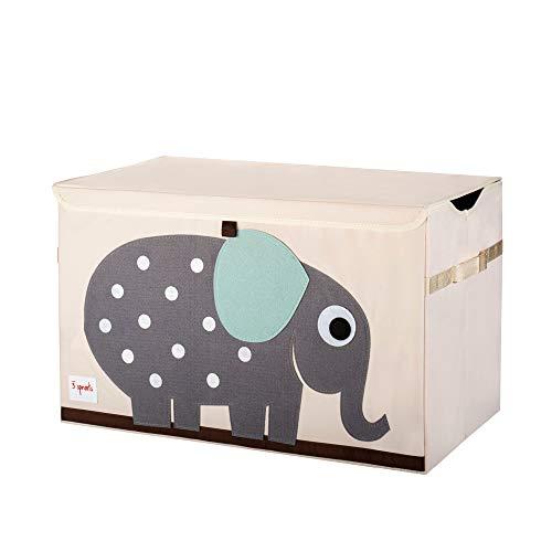 3 Sprouts Kinderspielzeugkiste - Aufbewahrungskoffer für Jungen und Mädchen, Elefant3 Sprouts -...