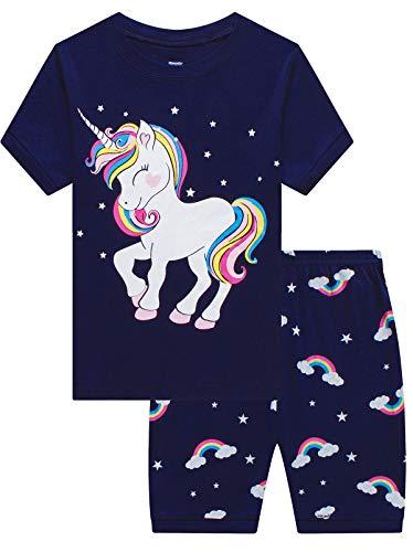 Mixidon Kinder Schlafanzug-Set mit Weihnachtsmotiv, niedliches Giraffenmuster, Nachtwäsche, 100 % Baumwolle,...