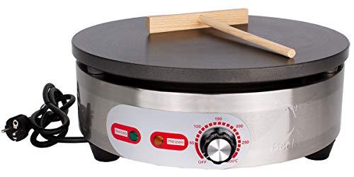 Beeketal 'BC40-1R' Gastro Crepes Maker mit Ø 400 mm antihaft Crepesplatte, 50-300 °C stufenlos einstellbar,...
