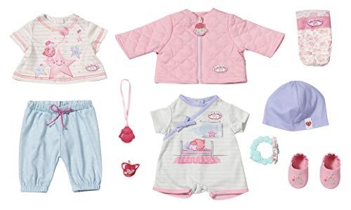 Zapf Creation 703267 Baby Annabell Kombi Set Puppenkleidung 43 cm, 12-teiliges Set bestehend aus Puppen Jacke,...