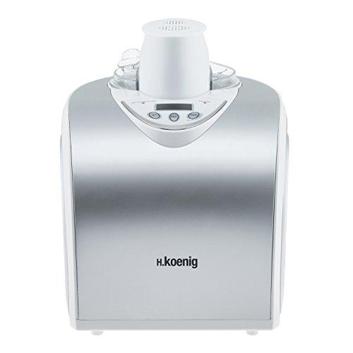 H.Koenig professionelle Eismaschine HF180 - Elektrisch - 1 L - 135 W - Kühlfunktion - Schnelle Zubereitung -...