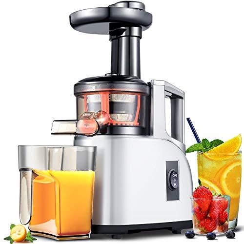 Entsafter Slow Juicer AMZCHEF Slow Entsafter Gemüse und Obst Kaltpresse Entsafter|BPA Frei Vertikale...