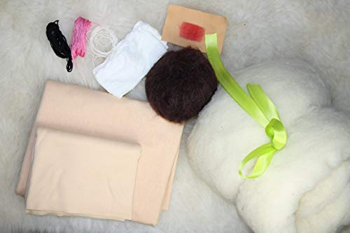 30 cm Puppe Material für Waldorfpuppe zum nähen