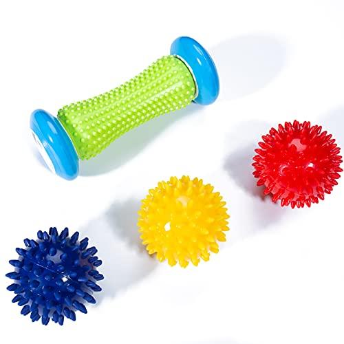 Massageball, Lavvio Igelball Fußmassage zur Linderung der Schmerzen im Fußgewölbe, Igelball Rücken, Bein...