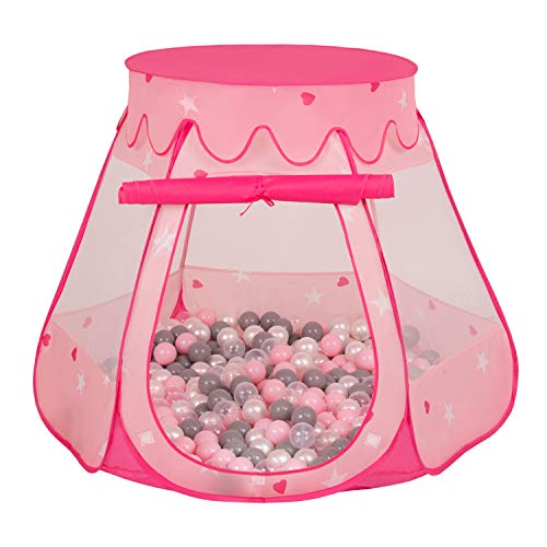 Selonis Baby Spielzelt Mit Plastikbällen Zelt 105X90cm/200 Bälle Plastikkugel Kinder,...