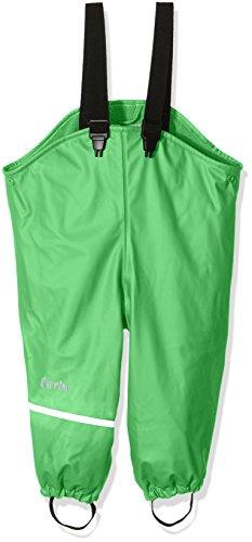 CareTec Kinder wasserdichte Regenlatzhose mit Fleecefutter (verschiedene Farben), Grün (Green 974), 74