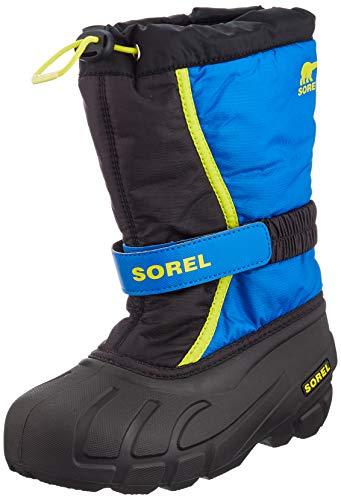 Sorel Unisex-Kinder-Winterstiefel, YOUTH FLURRY, Schwarz (Black, Super Blue), Größe: 37