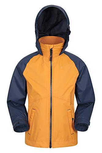 Mountain Warehouse Torrent wasserdichte Kinderjacke - versiegelte Nähte, Reißverschlusstaschen, verstellbare...