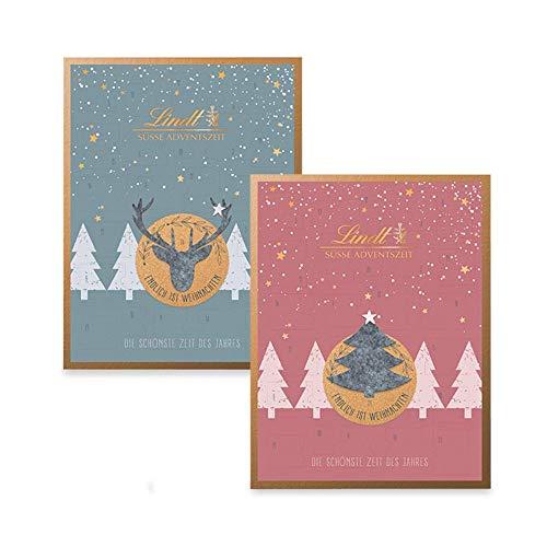 Lindt Adventskalender, Filz Edition (rosa oder grau), Schokoladen Adventskalender 2020