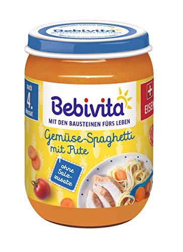 Bebivita Gemüse-Spaghetti mit Pute, 6er Pack (6 x 190 g)
