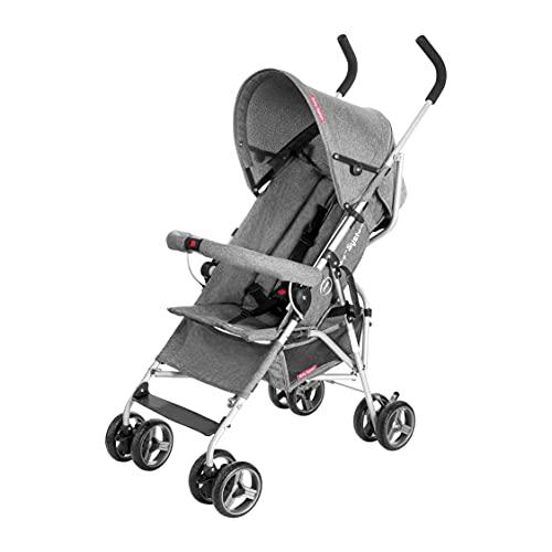 Moby-System, Kinderwagen, Superleichter & Klein, bis 15 kg, Verstellbare Rückenlehne, Doppelt, Schwenkbare...