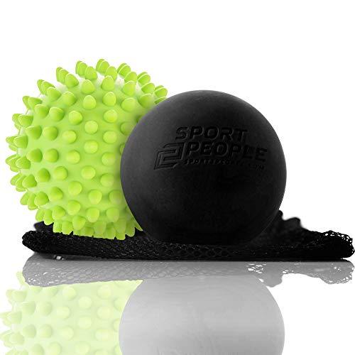 sport2people - Massageball -Set, 2er-Packung – Lacrosse Ball - und Igelball für Ihre vollständige...