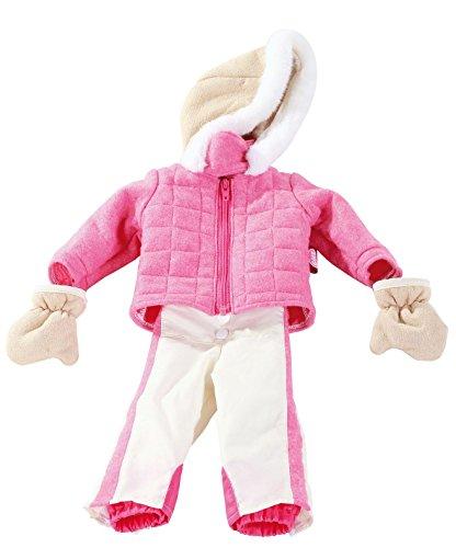 Götz 3402231 Kombination Skianzug Streif - Skibekleidung Puppenbekleidung Gr. XL - 3-teiliges Bekleidungs-...