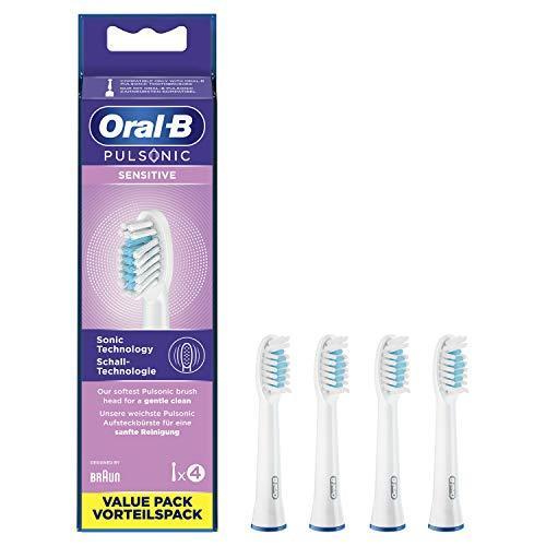 Oral-B Pulsonic Sensitive Aufsteckbürsten für Schallzahnbürsten, 4 Stück