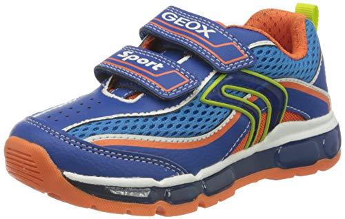 Geox Jungen J Android Boy C Sneaker, Blau (Royal/Orange C0685), 30 EU