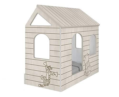 4myBaby GmbH Disney Original Hausbett Winnie The Pooh 80x160 cm Kinderbett Kinderhaus Jugendbett mit oder ohne...