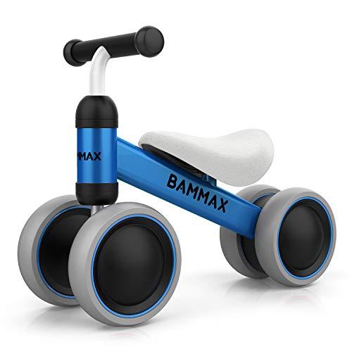Bammax Kinder Laufrad Lauflernrad Balance Fahrrad ohne Pedale Dreirad Spielzeug für 1 Jahr, Erstes Baby...