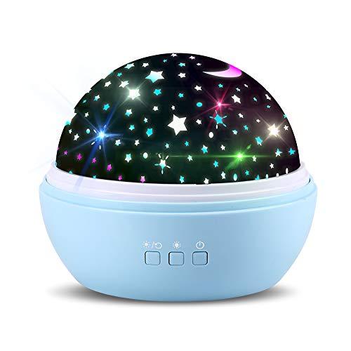 Sternenprojektor 360 Rotierenden Projektionslampe Sternenlicht Sternenhimmel Lichtprojektion Nachtlicht...