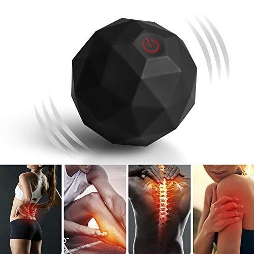 Elektrischer Massageball Vibration, 2 Geschwindigkeits Triggerpunkt Yoga Rücken Vibrierender Massageball...