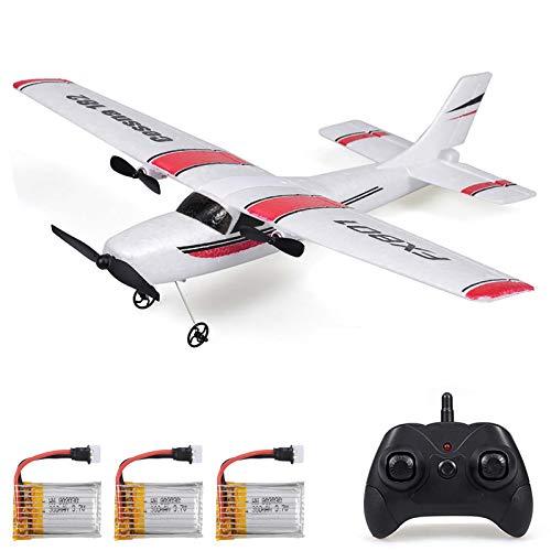 Goolsky FX801 Flugzeug Cessna 182 2,4 GHz 2CH RC Flugzeug Flugzeug Outdoor Flugspielzeug für Kinder Jungen...
