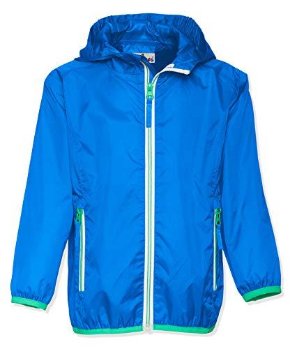 Playshoes Unisex Kinder Faltbare Funktions-Jacke Regenjacke, Blau 7, 128