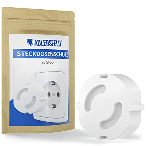 Adlersfeld® - Steckdosen Kindersicherung - [20 Stück] - Steckdosenschutz zum Stecken - Kindersicherung für...