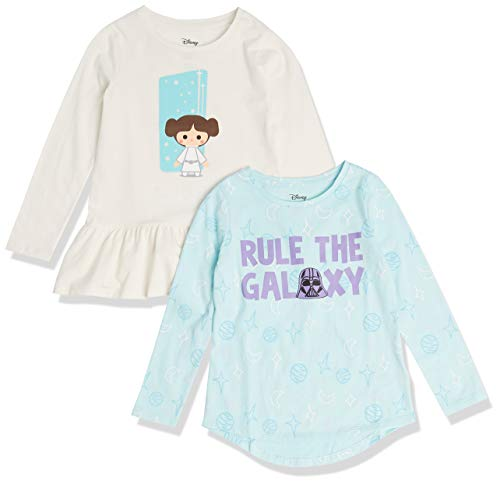 Spotted Zebra Disney Marvel Frozen Princess Long-Sleeve Tunic Fashion-t-Shirts, 2er-Pack Star Wars Rule The...