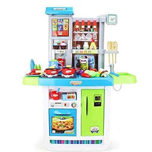 CaoQuanBaiHuoDian Kinder Bausteine Kinder-Spielküche Set mit Backofen Educational Kind-Küche-Spielzeug for...