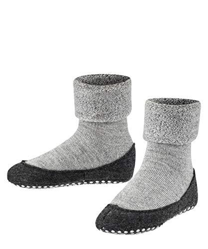 FALKE Haussocken Cosyshoe Schurwolle Kinder schwarz grau viele weitere Farben verstärkte Hüttensocken ohne...